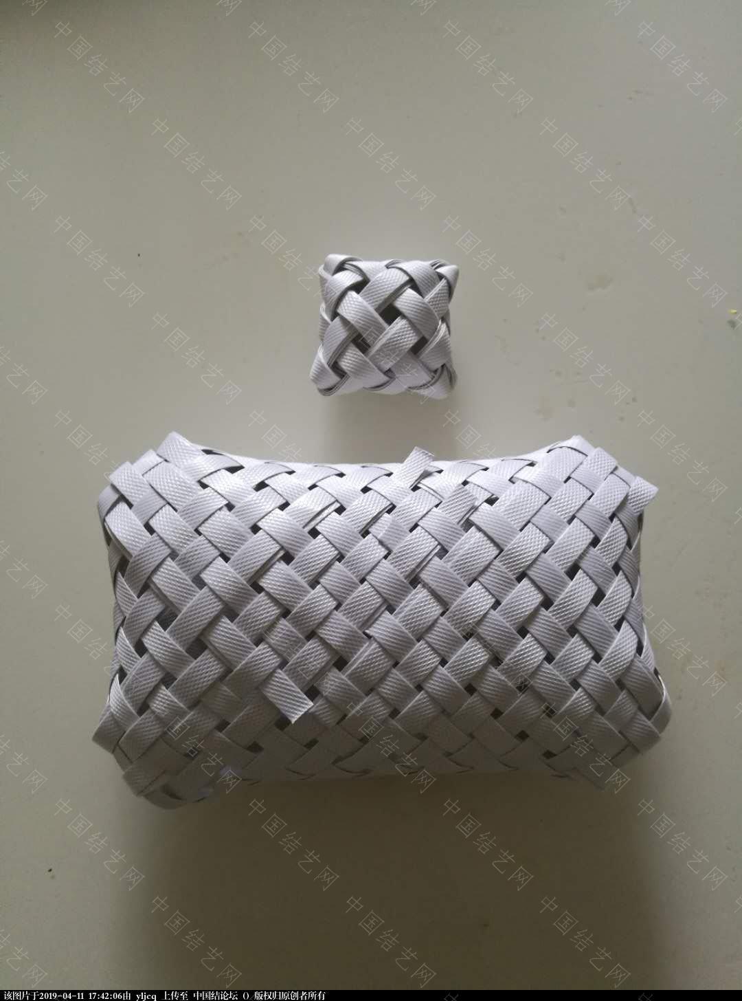 中国结论坛 打包带编织的枕头  作品展示 174154mpiiya39iwjywy9y
