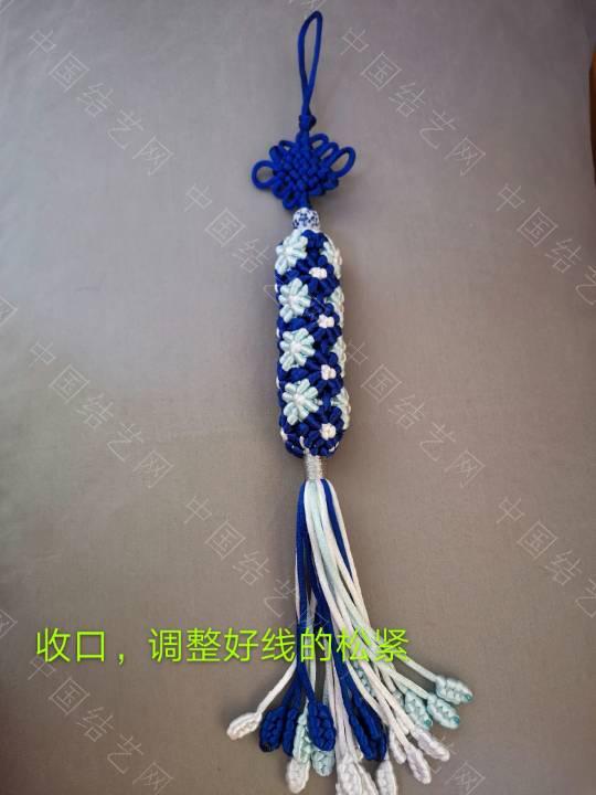 青花瓷柱挂件
