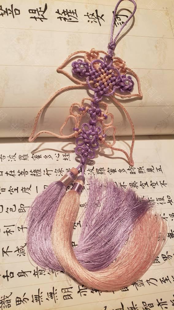 中国结论坛 仿华升老师套色盘长抓耳,取名《飞舞的裙摆》  作品展示 201130u25ba1b11ngap5hp