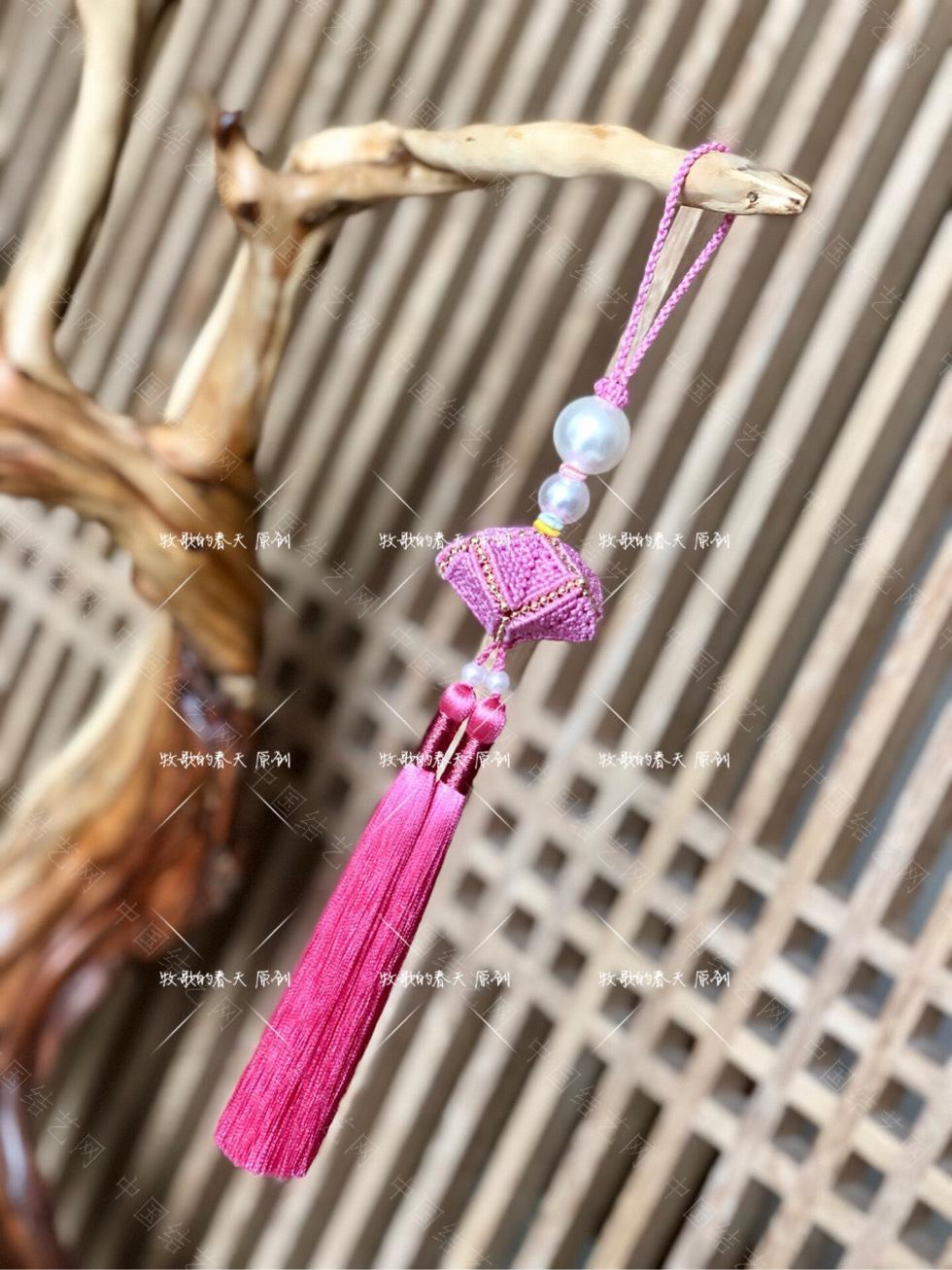 中国结论坛 原创挂饰 粉钻荷包  作品展示 102458iy7z1fcjj11ffy1y