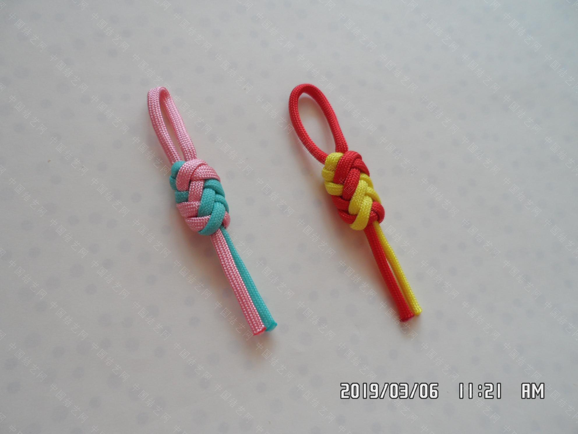 中国结论坛 一款伞绳扁形小挂件的走线方法  图文教程区 171201pizpbexbsjpbtnq8