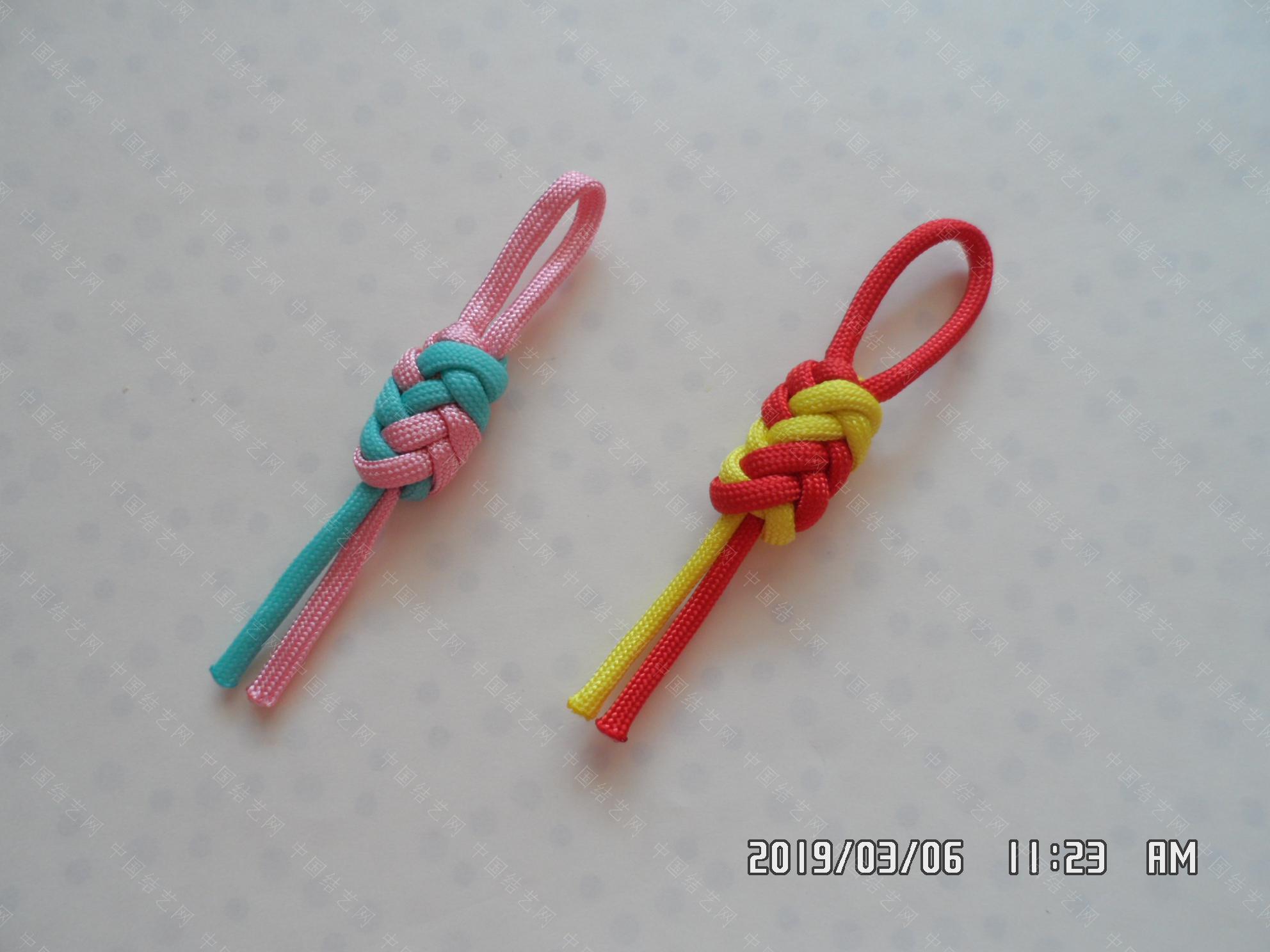 中国结论坛 一款伞绳扁形小挂件的走线方法  图文教程区 171213m6pdh9t3ahil97hu
