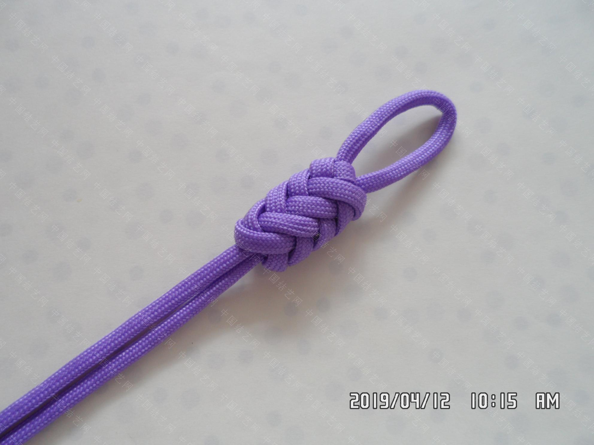 中国结论坛 一款伞绳扁形小挂件的走线方法  图文教程区 171657u3g3pft3tgpg9shg