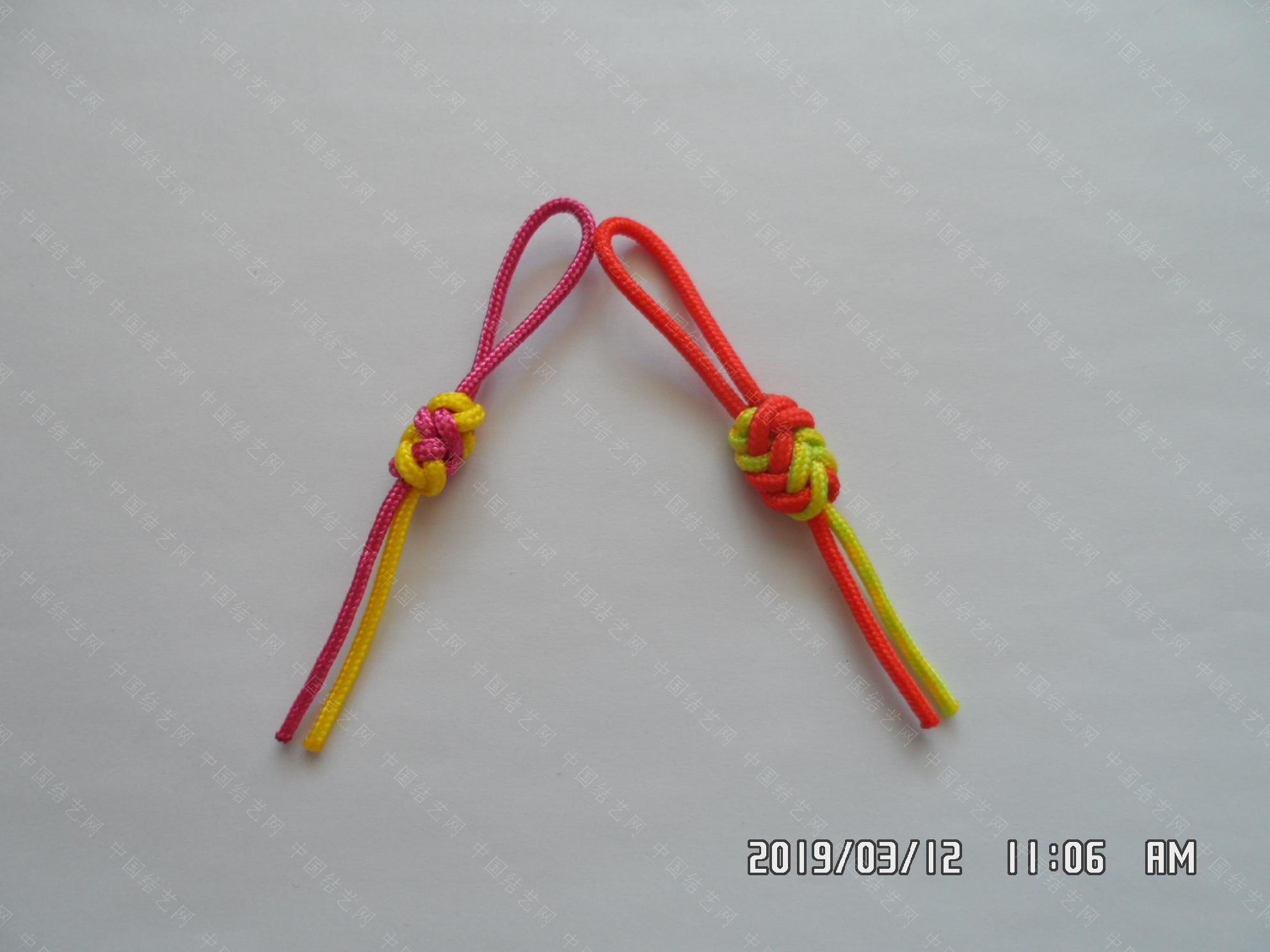 中国结论坛 一款伞绳扁形小挂件的走线方法  图文教程区 172419mgd11x1qaza14ang