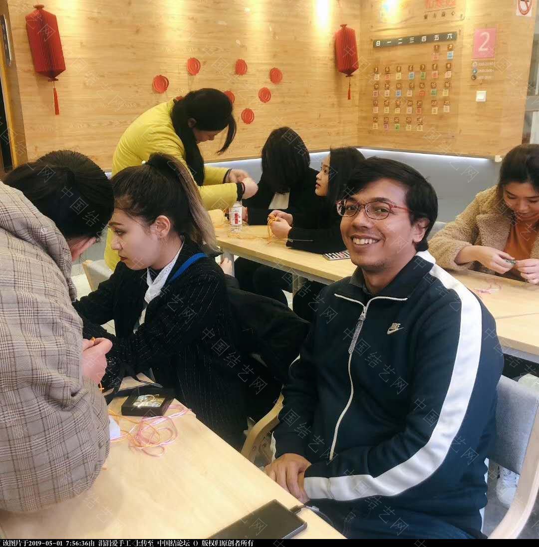中国结论坛 年轻朝气的大学生们,来自各国,齐聚上海青编舍学习中国传统文化·中国结  结艺网各地联谊会 075039ra9lycrlladh3zyb