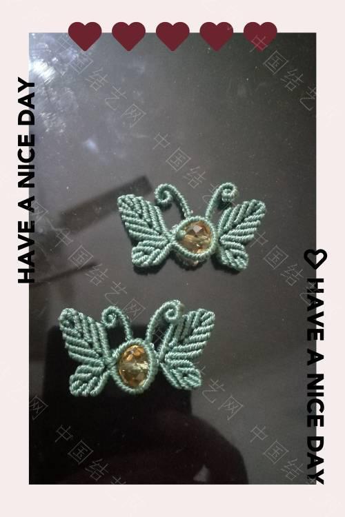 中国结论坛 两对蝴蝶扣子  作品展示 165445aj6x3jywrfxm1yd3