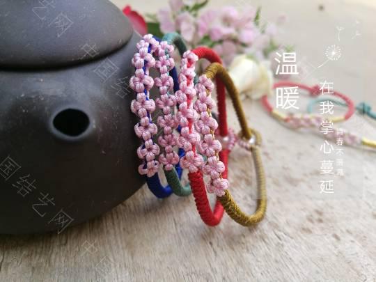 中国结论坛 编了一堆桃花手链  作品展示 161822hhwccj0ccjcppj00