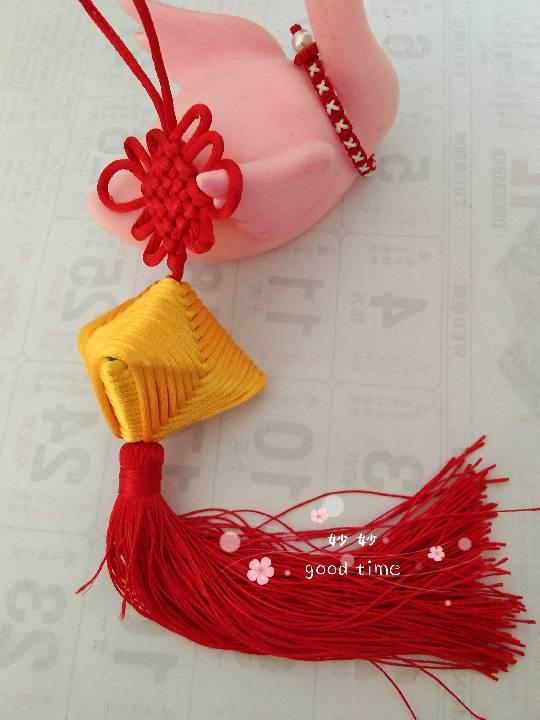 中国结论坛 粽子,买了好久的中国结有用武之地了  作品展示 160120spd4rf7urv42qbx5