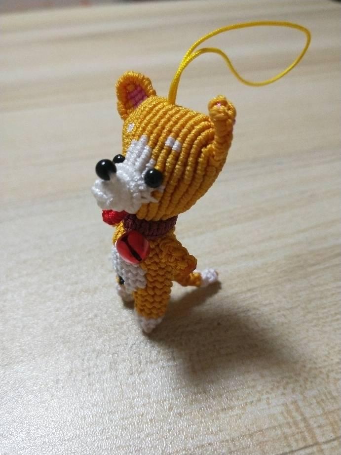 中国结论坛 给儿子编的小柴犬,编的不好,以后继续努力  作品展示 211654o48b4rz6vhd4vrgb