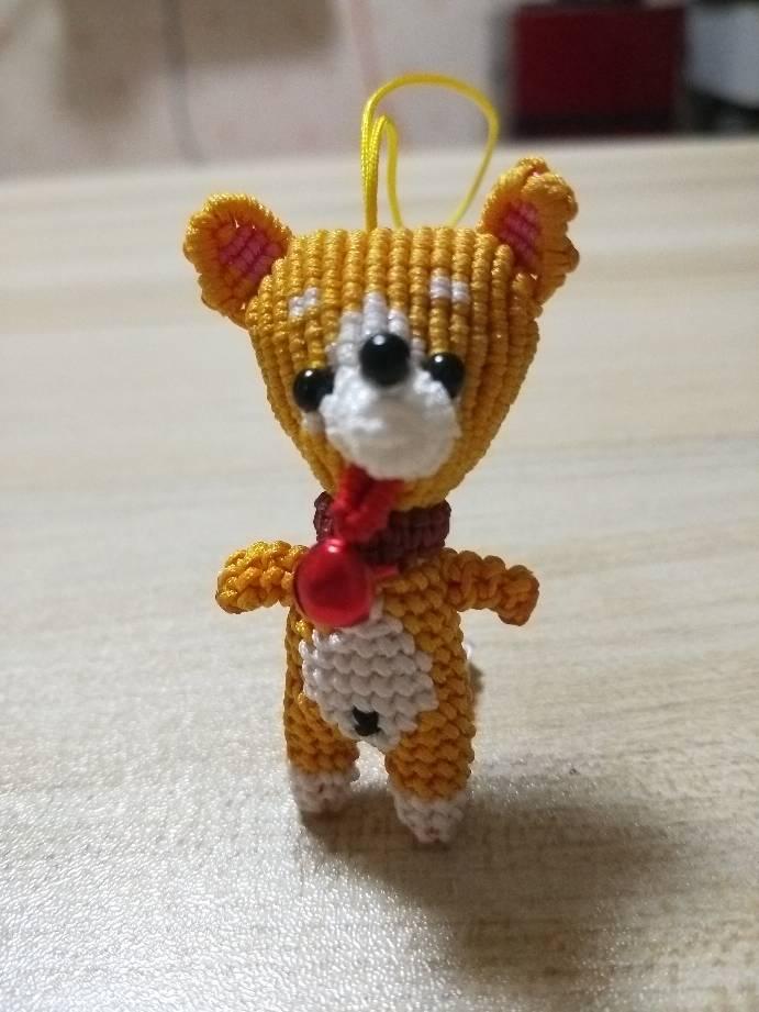 中国结论坛 给儿子编的小柴犬,编的不好,以后继续努力  作品展示 211655x5x69ojmh3m99chm