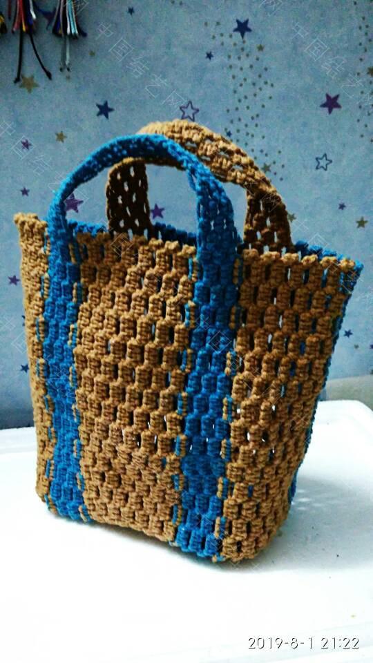 中国结论坛 双色平结袋子  作品展示 214016selc7jc8hx02s928