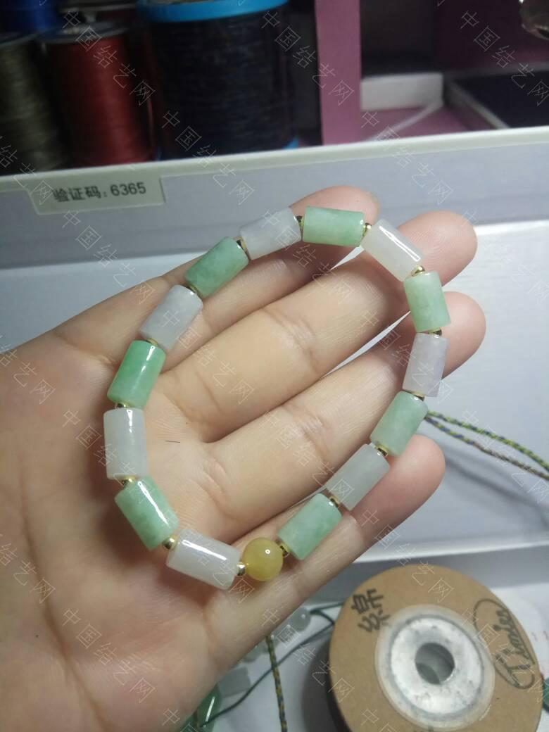 中国结论坛 翡翠桶珠手链 手链 作品展示 235300bhqyq83yr3d3z1rk