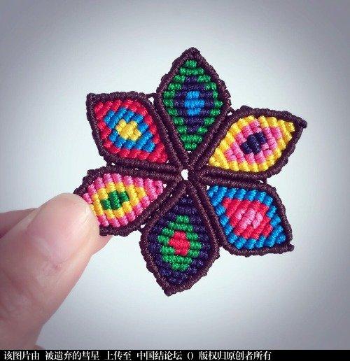 中国结论坛 求这个斜卷结六角星的教程  结艺互助区 221608bj1p66h696qhchcq