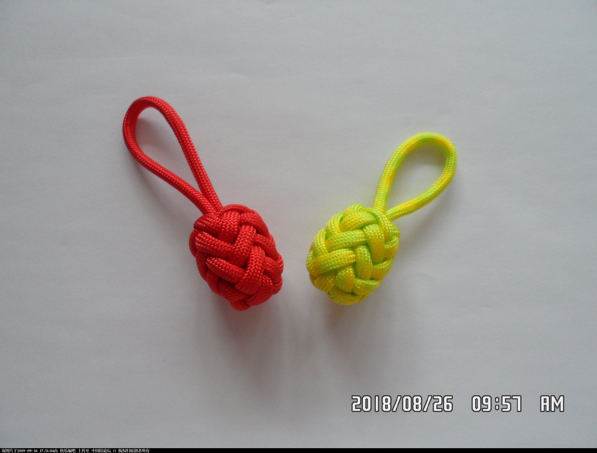 中国结论坛 一款伞绳菠萝形小挂件的走线方法  图文教程区 152235ci78xyzehrbbbmby