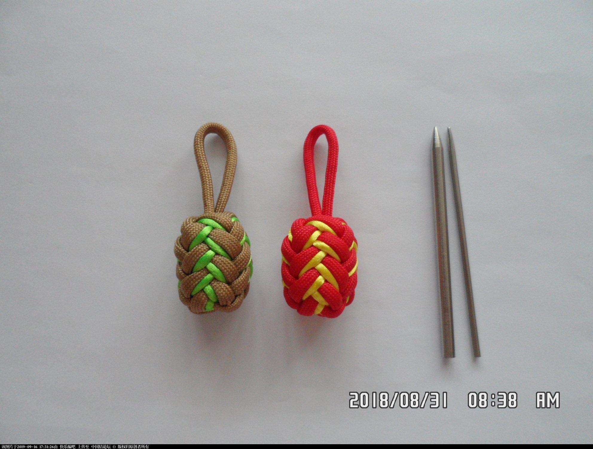 中国结论坛 一款伞绳菠萝形小挂件的走线方法  图文教程区 154055s615d46vvvvq4zkj