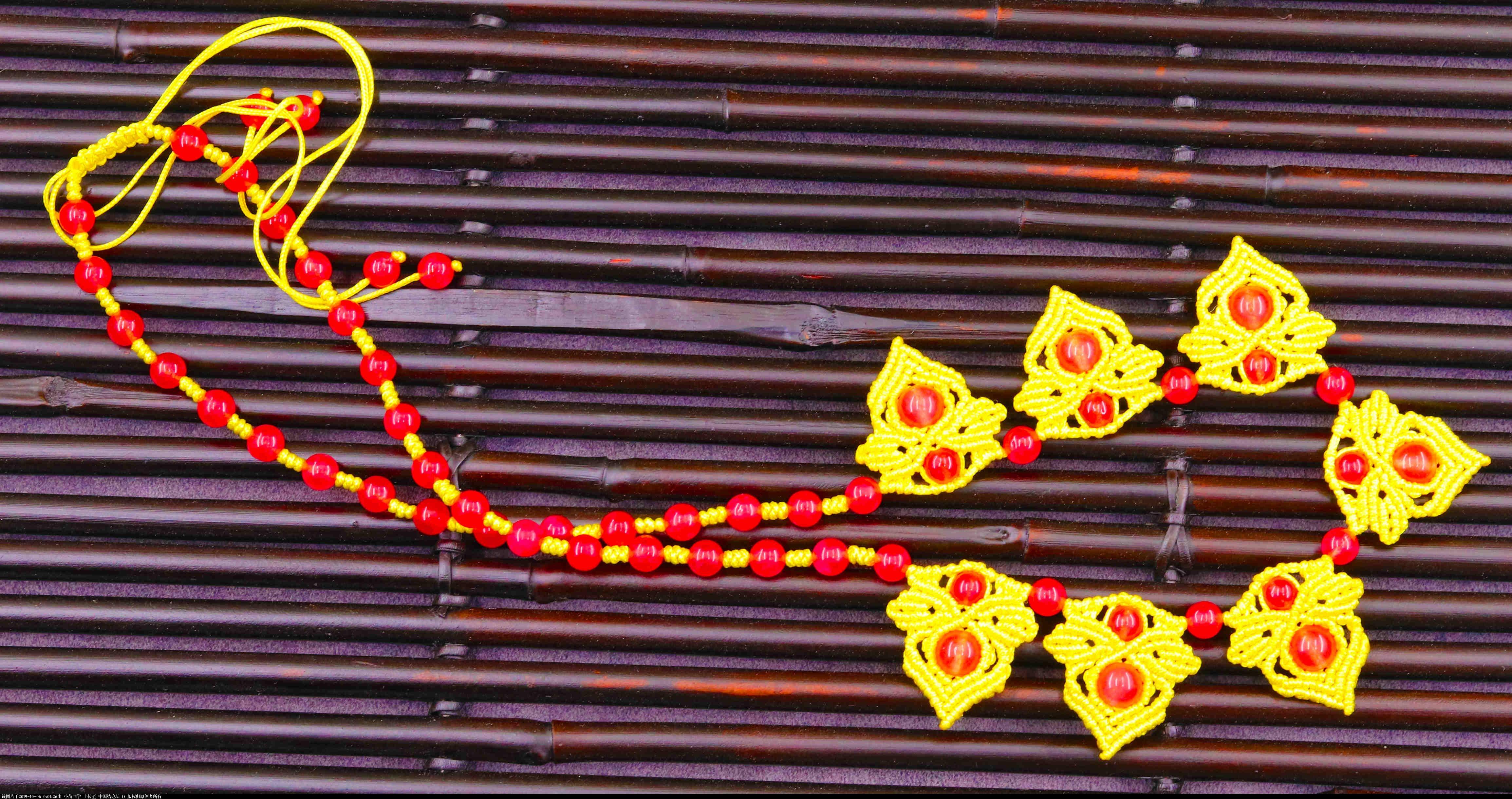 中国结论坛 再编卷结项链! 斜卷结花式项链编法,斜卷结的颈链,斜卷结编吊坠扣头,用一颗大珠子编吊坠,蜡线编织扣头 作品展示 000112rq1scibpmiyis1yk