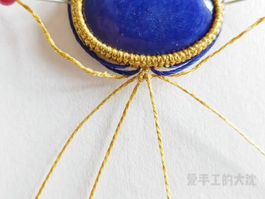 中国结论坛 包石款手链教程—缠绕 手链,教程,中间穿珠子怎样编手链,编带珠子的手链视频,编手链教程穿珠子的 图文教程区 203503l98fw56szu8f0048