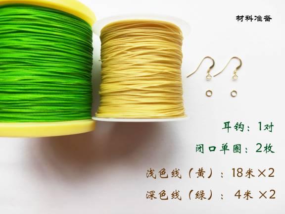 中国结论坛 耳坠(二)仿真叶子编织 耳坠,仿真,叶子,编织,叶子耳坠镶嵌款式图片 图文教程区 121257vc63wh99ahxyafaq