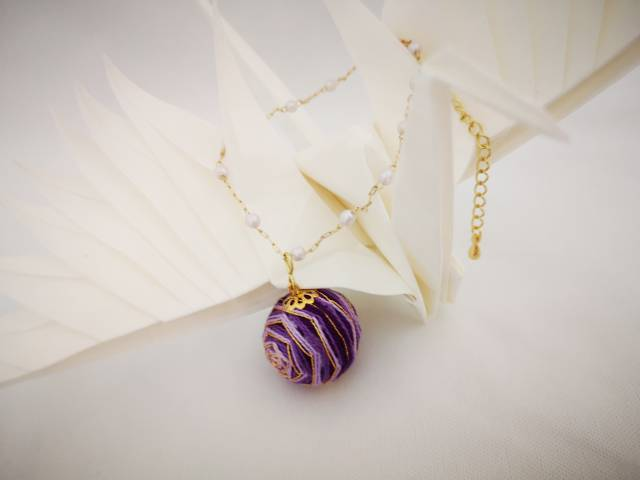 中国结论坛 手鞠球紫色玫瑰,耳环,手链  作品展示 072254inmz7u7at7curc7p