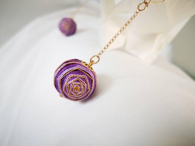 中国结论坛 手鞠球紫色玫瑰(手链,耳环)  作品展示 072402rabkgfg6gkkot8ab