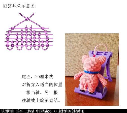 中国结论坛 囧猪-简易教程(适合有立体编基础的结友)  兰亭结艺 142618bidybpi76797dr7t