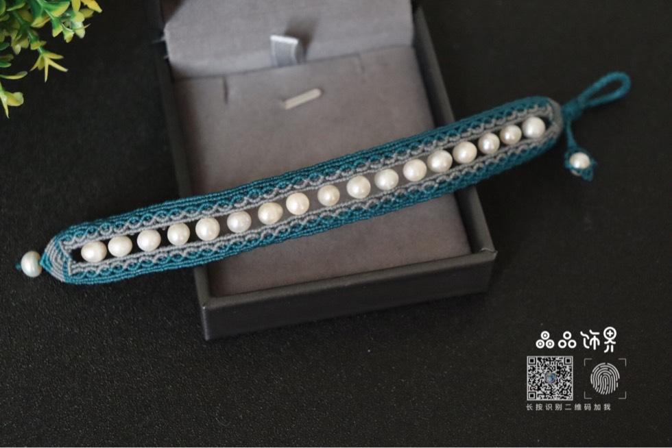 中国结论坛 孔雀蓝珍珠手绳  作品展示 105752ir4gurjgml7v78rq
