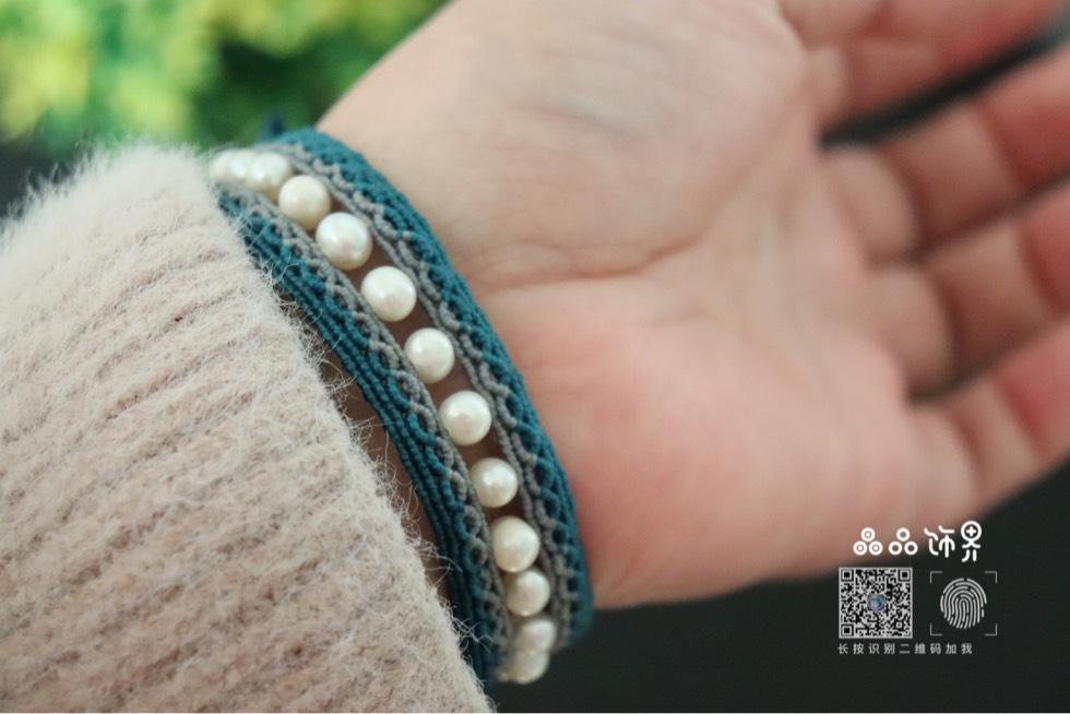 中国结论坛 孔雀蓝珍珠手绳  作品展示 105754e7d4sduehuanh4va