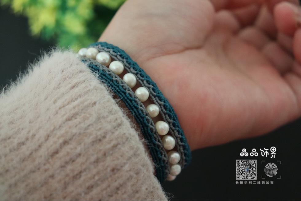 中国结论坛 孔雀蓝珍珠手绳  作品展示 105754y0h9te747jojhe7z