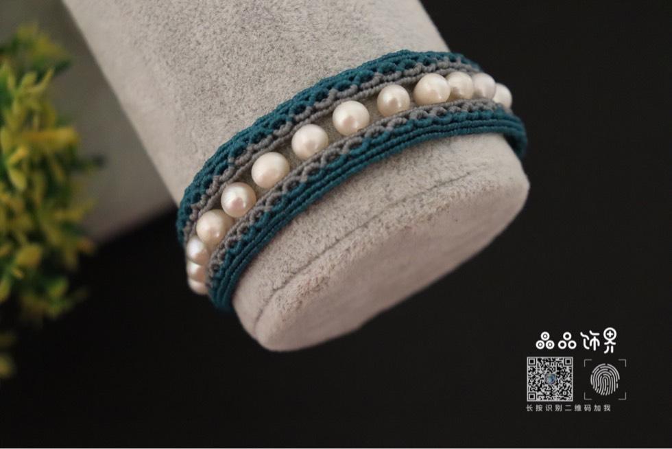 中国结论坛 孔雀蓝珍珠手绳  作品展示 105755i4kw1oyssgyx96ax