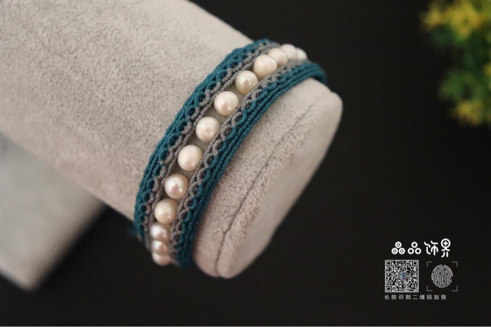 中国结论坛 孔雀蓝珍珠手绳  作品展示 105756u5mg93m8vvv2oggf