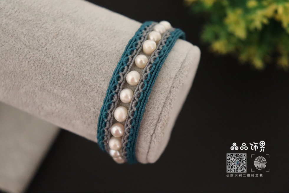 中国结论坛 孔雀蓝珍珠手绳  作品展示 105757bcspsc9p72zivgg0