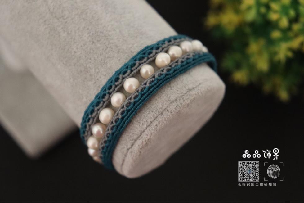 中国结论坛 孔雀蓝珍珠手绳  作品展示 105757kfrathbh5n7onou2