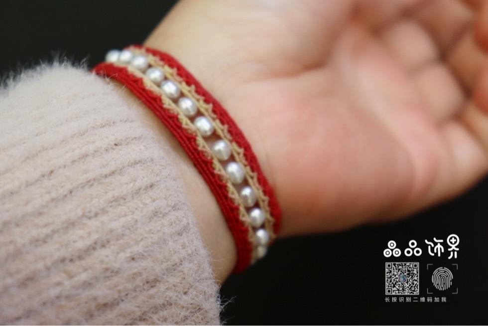 中国结论坛 福字新年红珍珠手绳  附上自制的福字字板  作品展示 105847jbze5nmf56fny58b