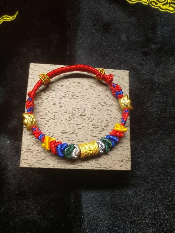 中国结论坛 五彩蛇结转运珠手链  作品展示 005508nsd4fqvqopdz2l11