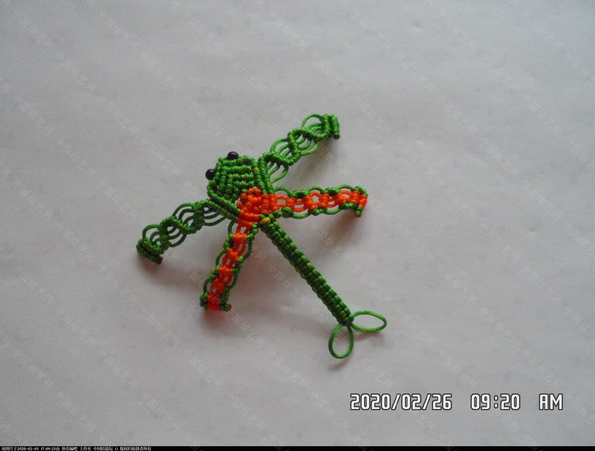 中国结论坛 一款蜻蜓书签的编法 —— 四种基本结组合练习 教程,最好的,珠子,方便,书中 图文教程区 142934ph4pzf19zhz3a93d