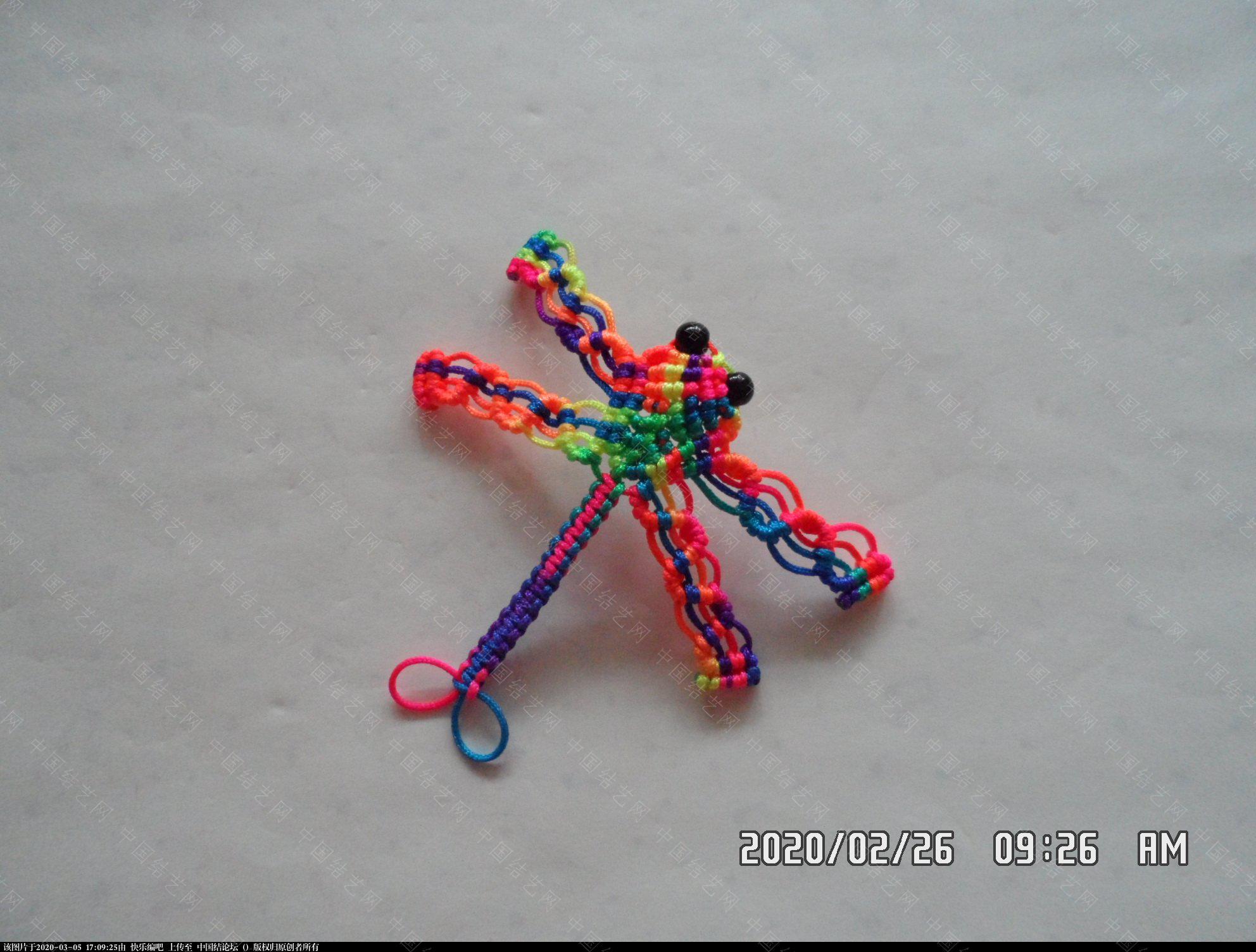 中国结论坛 一款蜻蜓书签的编法 —— 四种基本结组合练习 教程,最好的,珠子,方便,书中 图文教程区 142952k976cn5tz1a2m785