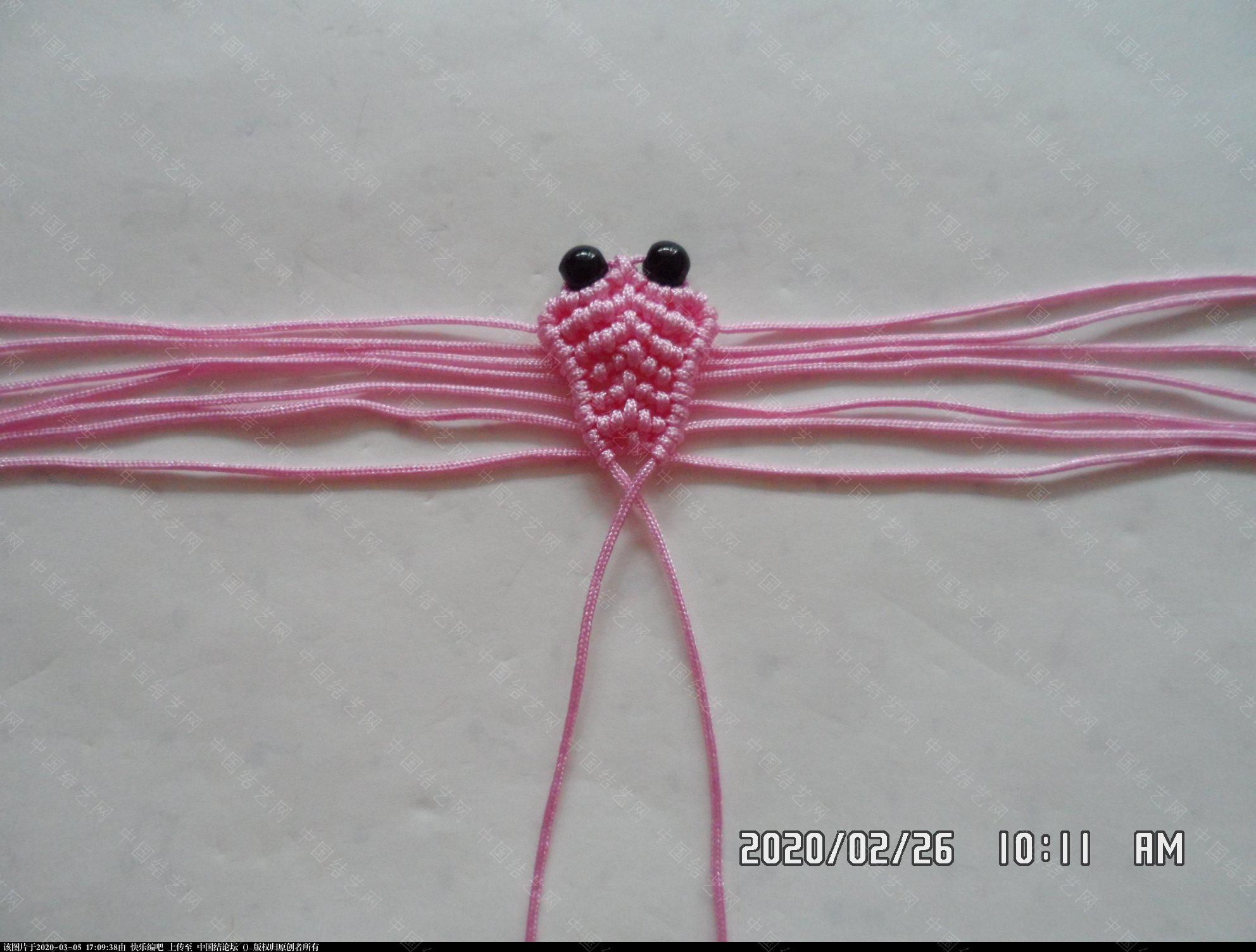 中国结论坛 一款蜻蜓书签的编法 —— 四种基本结组合练习 教程,最好的,珠子,方便,书中 图文教程区 145016vqo2od8pmjkggddm