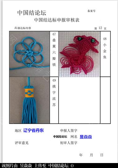 中国结论坛 高级达标申请  中国绳结艺术分级达标审核 111855qix45x1h8jjhh9f9