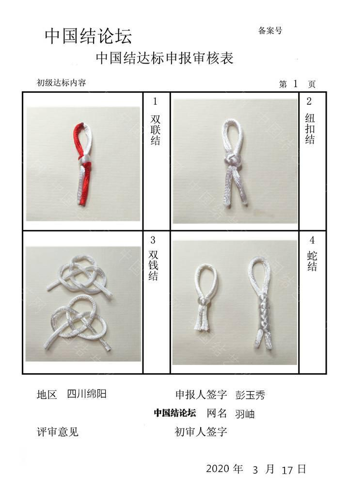 中国结论坛 初级达标提交审核稿件  中国绳结艺术分级达标审核 203210ani9ri9kigsie999