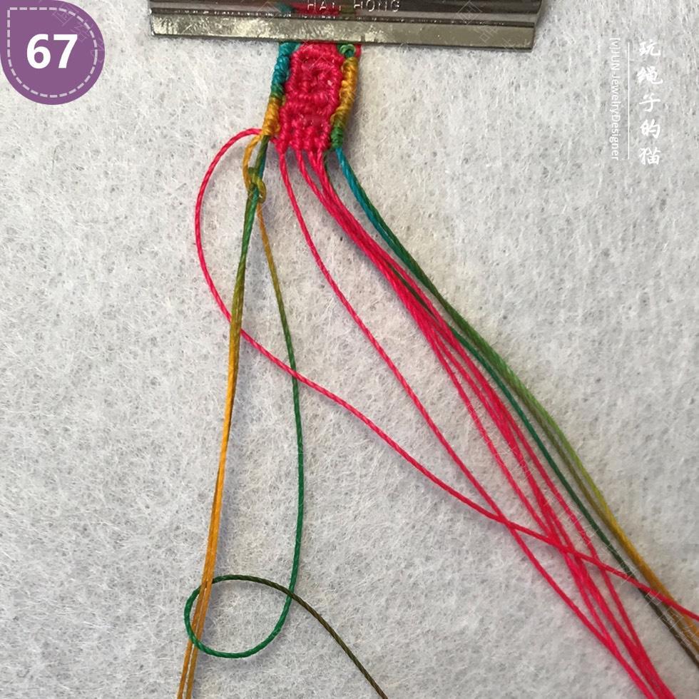 中国结论坛 Macrame挂绳 回纹图案挂绳/手链(图文教程)  图文教程区 200221b652kw6mtia0x3wi
