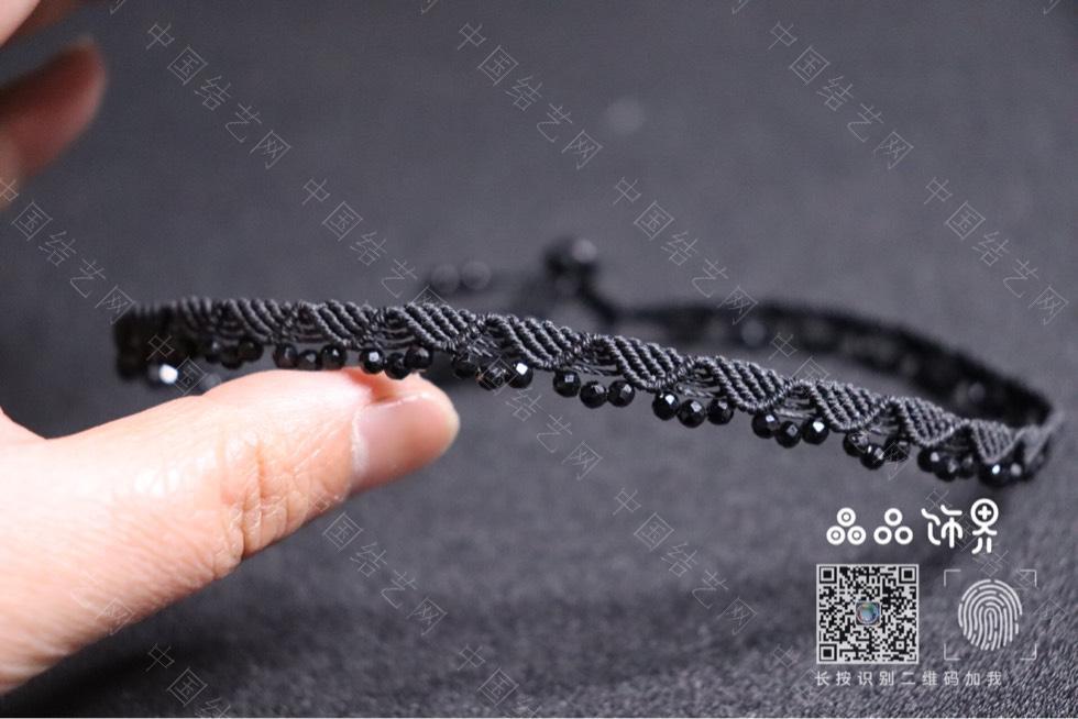 中国结论坛 黑尖晶锁骨链(教程已发)  作品展示 232904q0al0p9hvasyy2hq