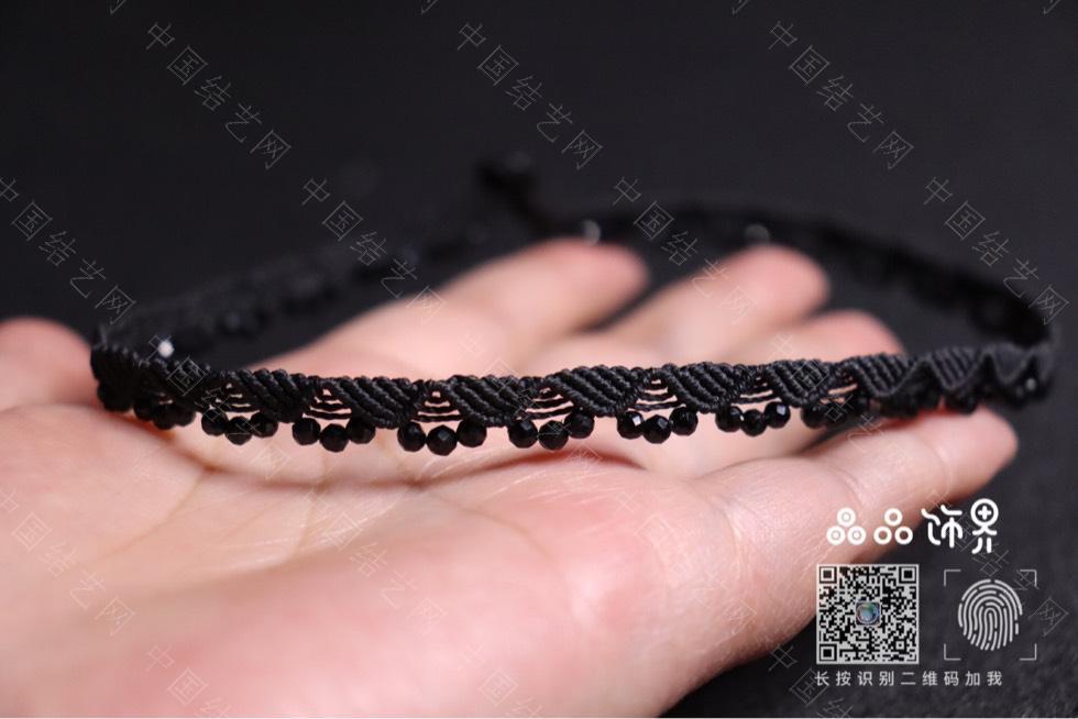 中国结论坛 黑尖晶锁骨链(教程已发)  作品展示 232905y1u3gt43p3t1r34r