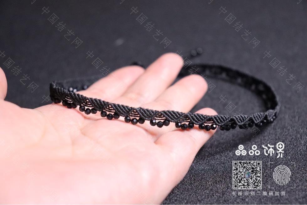 中国结论坛 黑尖晶锁骨链(教程已发)  作品展示 232908q1xio4kmttnn96z1