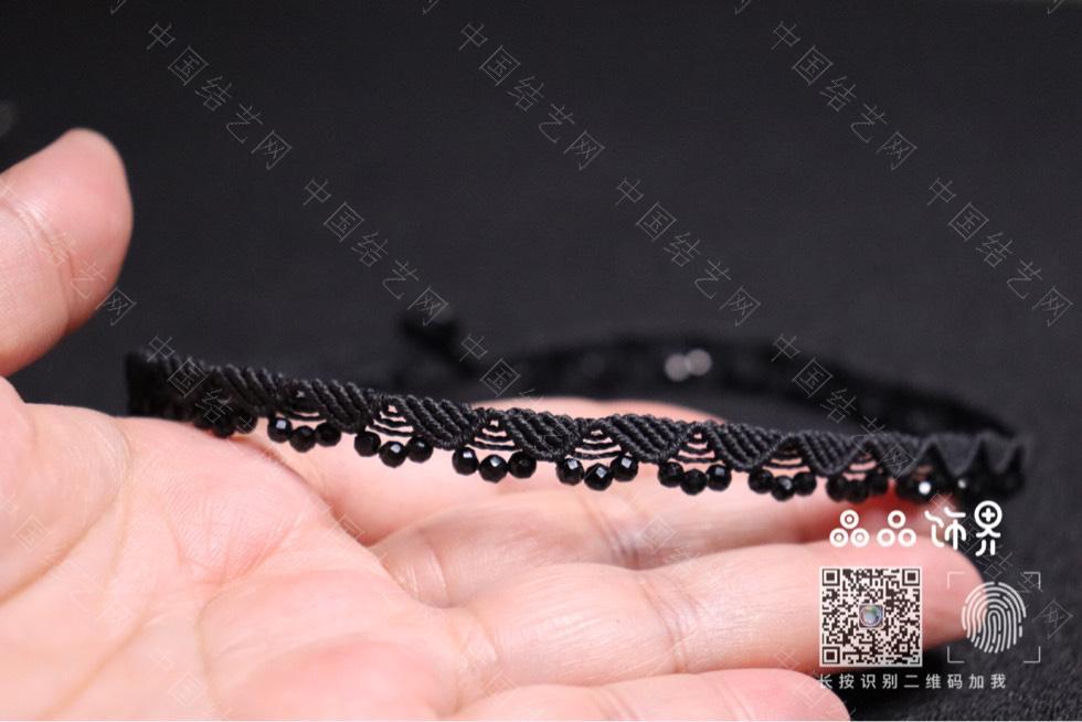 中国结论坛 黑尖晶锁骨链(教程已发)  作品展示 232911icc072ezmpellmbc