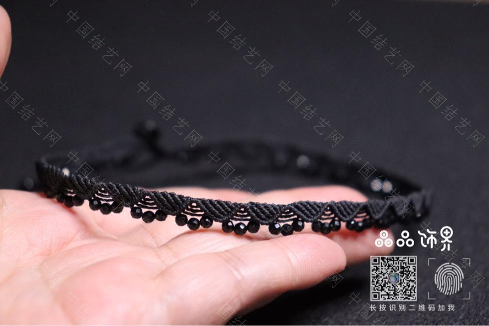 中国结论坛 黑尖晶锁骨链(教程已发)  作品展示 232911u5gvar5f5bevfvib