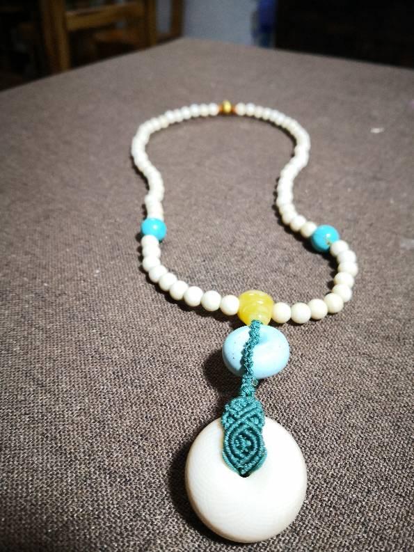 中国结论坛 实用项链系列 珍珠一个一个打结图解 作品展示 110120yghgfgf5f94yiyhz