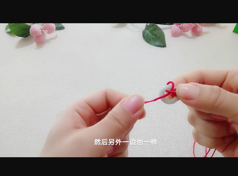 中国结论坛 雀头结变化与十字吉祥结组合手绳 双排雀头结编法,双向雀头结编法图解,一根绳子编法大全简单,雀头结手链编法,雀头结手绳 图文教程区 185006rfn6t2f1tfy2oyzw