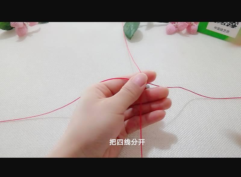 中国结论坛 雀头结变化与十字吉祥结组合手绳 双排雀头结编法,双向雀头结编法图解,一根绳子编法大全简单,雀头结手链编法,雀头结手绳 图文教程区 185007bzm8y48zdl684lww