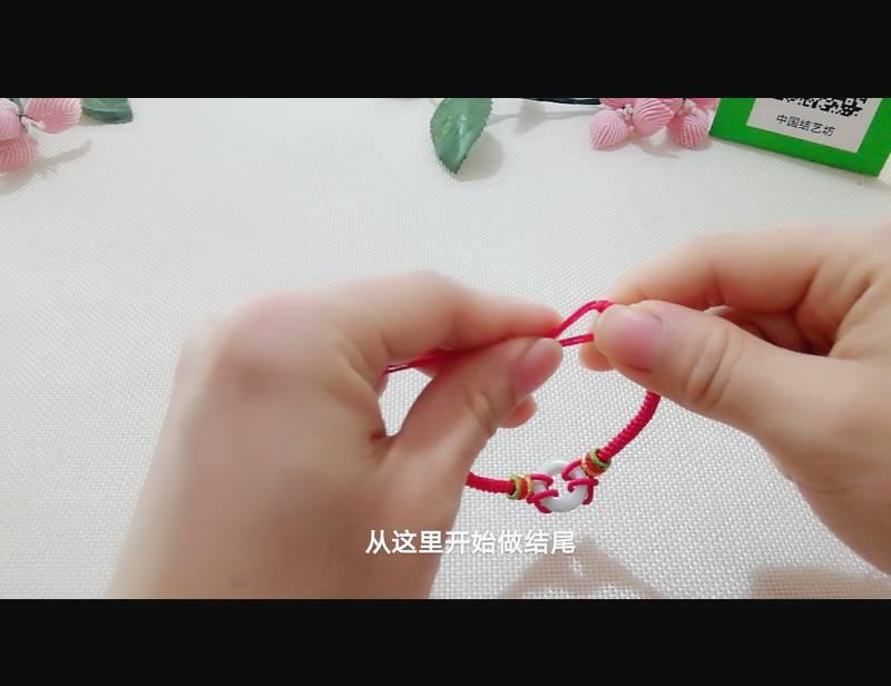 中国结论坛 雀头结变化与十字吉祥结组合手绳 双排雀头结编法,双向雀头结编法图解,一根绳子编法大全简单,雀头结手链编法,雀头结手绳 图文教程区 185011etdcsn2icm3o59ct