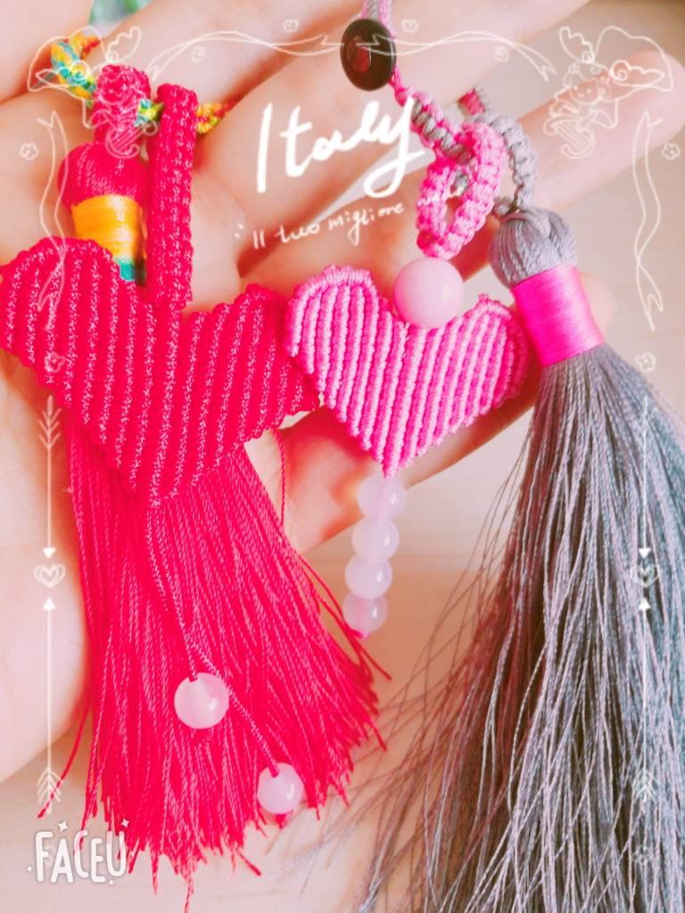 中国结论坛 爱心流苏小挂件 手工串珠爱心小挂件,编织小挂件简单一点,流苏怎么绑在挂件上,流苏与挂件连接方法 作品展示 172944szka838u9fbge849